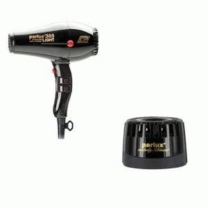PARLUX PHON 385 POWER LIGHT IONIC & CERAMIC NERO + PARLUX SILENZIATORE  8745Parlux